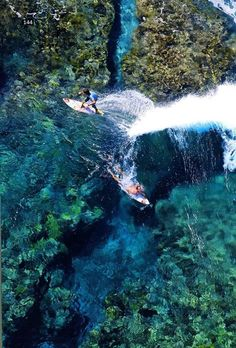 Want to swim there ASAP | surfing in crystal clear water |