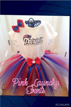 New England Patriots Tutu Outfit Link to purchase  http://www.pinklaundryevents.com/collections/frontpage/products/new-england-patriots-tutu-outfit