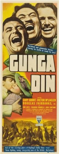 Gunga Din Top From Left: Bottom From Left: Cary Grant Victor Mclaglen Douglas Fairbanks Bottom From Left: Douglas Fairbanks Jr. Joan Fontaine 1939. Movie Poster Masterprint (24 x 36)