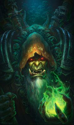 Guldan -World of Warcraft | peterconcept | hearthstone, warlock fantasy art gaming