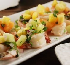spicy lime shrimp with fruity pico de gallo-- looks pleasing to the eye and palate!