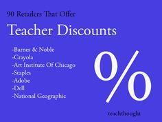 90 Retailers That Offer Teacher Discounts