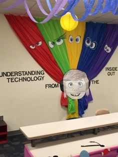 "Wall decoration Disney Pixar's ""Inside Out"" themed classroom"