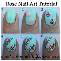 Tutorial: vintage roses art nails. ~ Lakieromaniaczki #nailart #diy #beauty