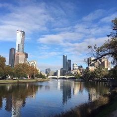 Always love this view of the city on the run into Melbourne ( # @makalicious21 )
