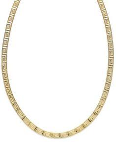 Giani Bernini 24k Gold over Sterling Silver Greek Key Linked Necklace | macys.com