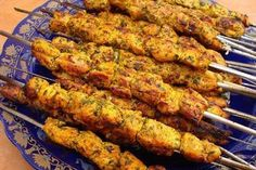 Recipe for classic Moroccan brochettes of leg of lamb or beef fillet, generously seasoned with herbs and spices and grilled to tender perfection.