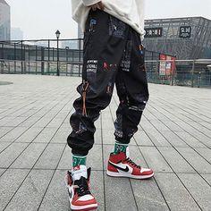 Men Loose Joggers Print Streetwear Harem Pants Ankle Length - Men's style, accessories, mens fashion trends 2020 Pantalon Streetwear, Style Streetwear, Streetwear Fashion, Streetwear Clothing, Hip Hop Fashion, Fashion Pants, Mens Fashion, Style Fashion, Fashion Ideas