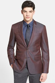 John Varvatos Star USA 'Uomo' Trim Fit Wool & Silk Sportcoat by Star USA By John Varvatos on @nordstrom_rack