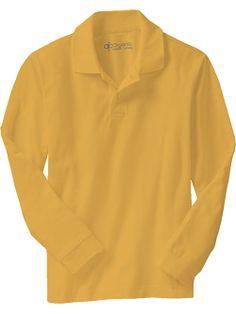 Polos Long-Sleeved Pique Boys, 100% organic cotton