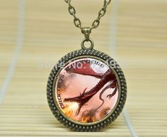 10pcs Game of Thrones. Dracarys. Dragonfire. Daenerys Targaryen. Mother of Dragons. jewelry glass Cabochon Necklace A3009(China (Mainland))