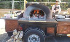 Wood fire pizza truck