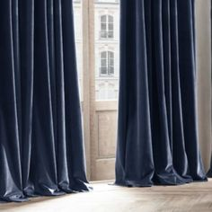 "Velvet curtains with lining. Custom lengths, widths, and blackout lining available. Curtains are 1 width (approximately 48"" wide)"