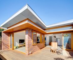An ideas driven architect specialising in residential architectural throughout Sydney and the Sunshine Coast providing tailored solutions for each project. Future House, My House, Farm House, Modern Deck, Australian Homes, Architecture Details, Bungalow, House Plans, Sweet Home