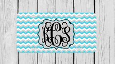 Personalized Monogrammed Chevron Vine Grey Light by TopCraftCase