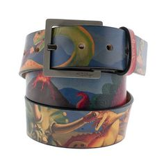 Dinosaurs Making Toast Leather Belt - @James