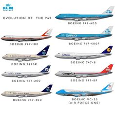 The queens of the sky✈ there are other special variants but I just chose the main ones✈ . Boeing Planes, Boeing 747 8, Boeing Aircraft, 747 Airplane, Aircraft Propeller, Korean Air, Best Airlines, Commercial Aircraft, Civil Aviation