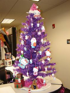 Hello Kitty Christmas Tree. Combines two of my favorites, purple and hello kitty