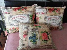 HEDERVIGA / Vankúše Luxury Romantic ...skladom ! Cute Pillows, Throw Pillows, Chesterfield, Shabby, Romantic, Luxury, Cushions, Romance Movies, Decorative Pillows
