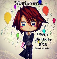 I made this drawing for the birthday of this character some of the characters from Final Fantasy series have their birthdays this month  and I even didn't finish the other drawings. I hope you like my job.  #tsukimaggy #originalwork #tablet #drawing #cute #kawaii #chibi #originalstyle #squareenix # squall #leonhart #ffviii #birthday #traditionalart