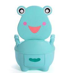 Cartoon Potty Baby Plastic Toilet Girls Boy Portable Potty Seat Folding Chair Cute Frog Drawer Training Potty Children's Toilet