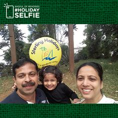 We thank you for your participation for Sterling Holidays' ‪#‎holidayselfie‬ contest. Needless to say, the memories you shared with us will remain embedded in our hearts. As for the winners, for today we have Antony M R. We hope you enjoyed holidaying with us and taking these memorable selfies; with that note Sterling Holidays wishes you the greetings of this happiest summertime. To view all the winners of the #holidayselfie ‪#‎bagfulofmemories‬ contest.