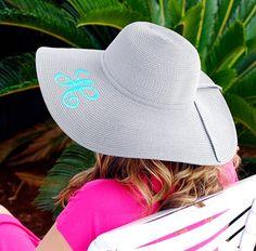 Custom Monogrammed Floppy Hat