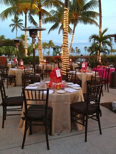 Wedding Reception At Red Fish Grill Fruitwood Chairs And Brown Fortuny Crush Cushions By Eventiste