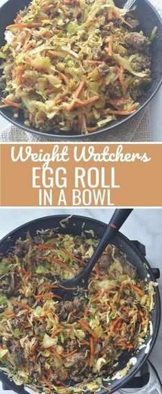 Weight Watchers - Egg Roll in a Bowl Recipe Diaries lowcarb lowcarbdiet weightwatchers chinesefood 502081058455107789 Plats Weight Watchers, Weight Watchers Diet, Weight Watcher Dinners, Weight Watcher Recipes, Weight Watchers Casserole, Weight Watchers Egg Roll Recipe, Weight Watchers Recipes With Sausage, Weight Watcher Points, Weight Watchers Shakes