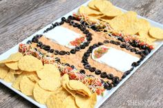 The 7 Layer Court Dip.  Because someone asked me to do it for my nephew.