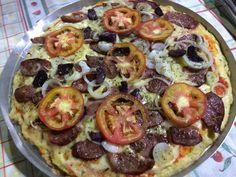 Dica da Solange - pizza com massa de frango
