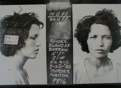 Blanche Barrow, committed robbery and murder along side Buck Barrow, Bonnie Parker, and Clyde Barrow. Bonnie Parker, Bonnie Clyde, Celebrity Mugshots, Celebrity Deaths, The Babadook, Real Gangster, Mafia Gangster, Murder, Poster Pictures