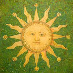 sun face paintings - Google Search