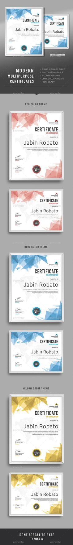 Modern Multipurpose Certificates Template PSD. Download here: http://graphicriver.net/item/modern-multipurpose-certificates/12869634?ref=ksioks