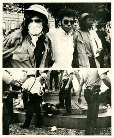 Chicago 1968, Democratic National Convention riots, photograph by Jeffrey Blankfort