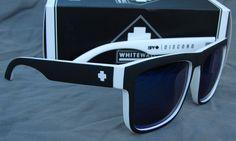 New Spy Optic DISCORD Whitewall Men's Women's Sunglasses Blue spectra lenses #SpyOptic #Square