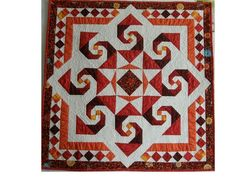 Star Reel made by Dunster. Pattern by Judy Martin appeared in Scrap Quilts. by lupe Sampler Quilts, Star Quilts, Mini Quilts, Quilt Blocks, Quilting Projects, Quilting Designs, Diy Projects, Storm At Sea Quilt, Two Color Quilts