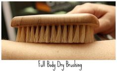 Dry brush your skin. brushing your skin has a ton of  benefits.  It aids in cellulite and stretch mark reduction, boosts metabolism, eliminates fat and toxins, stimulates circulation and the lymphatic system, and of course, it exfoliates.