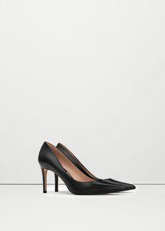 Escarpins cuir -  Femme | MANGO France