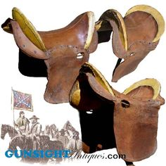 Civil War era - SOUTHERN MILITARY SADDLE