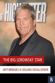 """The Big Lebowski"" actor and Oscar winner would abide an offer on this estate. Take a look at Jeff Bridges' beautiful SoCal home. Jeff Bridges, The Big Lebowski, Oscar Winners, Frugal Tips, Celebrity Houses, Photo Credit, Behind The Scenes, Take That, Actors"