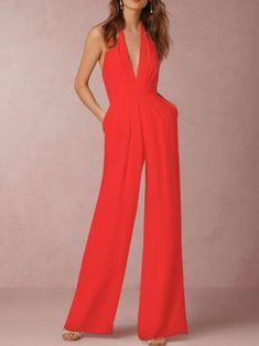 9f4fc2ab4791 Vestido elegante sin mangas Spandex casual Prom Jumpsuit