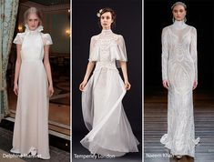 Lots of collars in bridal fashion! Spring 2017 Bridal Fashion Trends: Wedding Dresses with High Collars