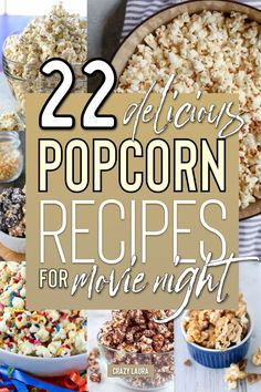 Want to break out a new recipe for movie night? These delicious homemade popcorn recipes will help you do just that! POP, lock and drop it with this popcorn heat 🔥 Popcorn Toppings, Popcorn Snacks, Flavored Popcorn, Gourmet Popcorn, Microwave Popcorn, Popcorn Bar, Homemade Popcorn Seasoning, Homemade Popcorn Recipes, Sweet Popcorn Recipes