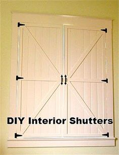This would be a great idea to add some rustic flare to a Water's Edge or Woodland's setting! Indoor Shutter Tutorial #shutters #barndoor