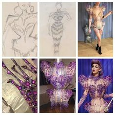 Violet Chachki's Finale Dress. LOOK. AT. THAT. DRESS! indescribable perfection.