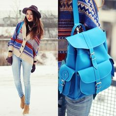 Blue touch (by Virgit Canaz) http://lookbook.nu/look/4523247-Blue-touch