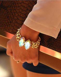 double crystal bracelet <3
