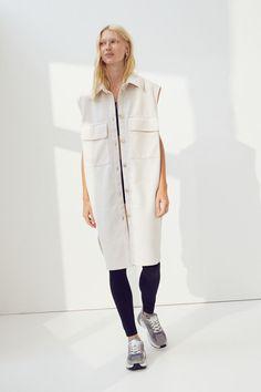 Veste-chemise sans manches - Beige clair - FEMME | H&M CA 2