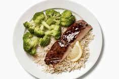 BBQ Salmon with Garlicky Rice